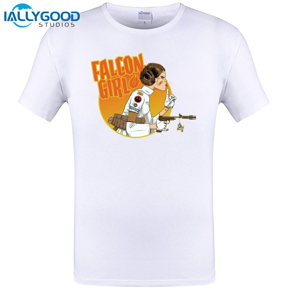 d76d03b72b48 2018 Summer Promotion Tees Homme Clothing Falcon Girl Casual Cotton Short  Sleeve O Neck T Shirt Men Tops Tee Plus Size 6XL 5XL Tee Shirt Designs  Humorous T ...