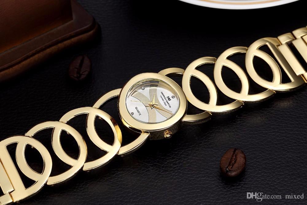 HM-WQ01 Ханна Мартин новый бренд бизнес-леди золото женщины часы стальной ремешок браслет CasualFashion кварцевые часы женщины Relojes Mujer