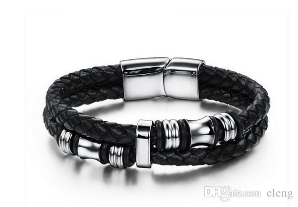 2017 New product hot sale leather bracelet snap jewelry Men's leather bracelet Decorations bracelet 85