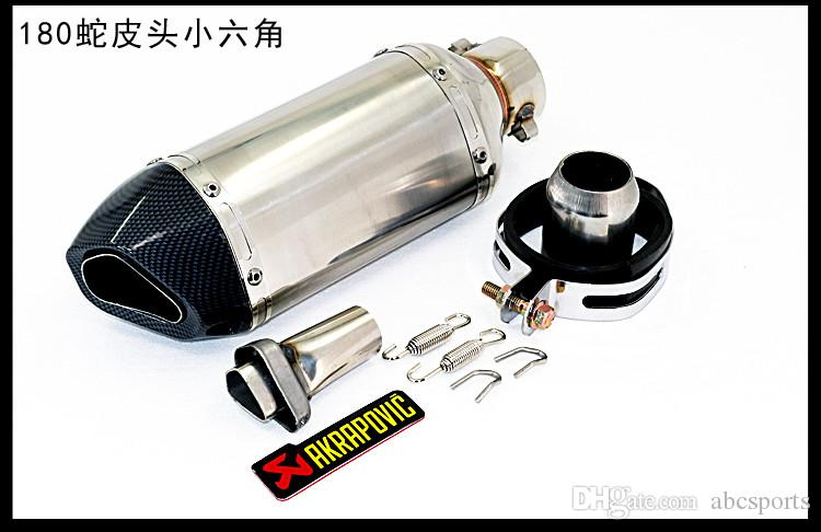 Akrapovic Yoshimura Motorcycle Exhaust Muffler Pipe Echappement Moto With db killer For GY6 CBR125 CRF230 TMAX 500 ER6N FZ6
