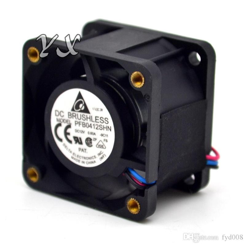 Envío gratis Original Nueva PFB0412SHN 4028 12 V 0.6A doble bola-servidores ventilador 1U para Delta 40 * 40 * 28mm