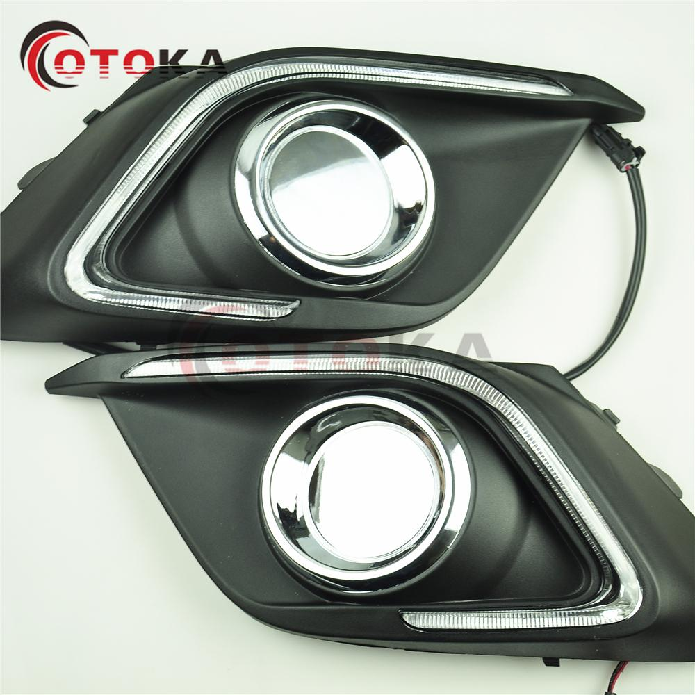 12V LED Car DRL Daytime Running Lights Day Driving Lamp For Mazda 3 Axela  M3 2014 2015 That With Exist Fog Lamp Day Running Lights Led Daytime Car  Lights ...