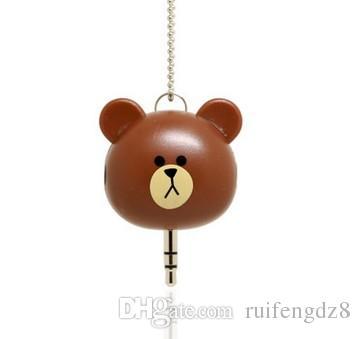 doll bear audio splitter 3.5mm Heart Headphone Splitter Audio Adapter for iphone samsung phone MP3 MP4 etc gift for your friends