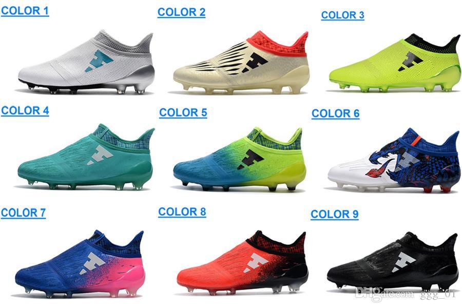 finest selection a39b3 926e4 Compre Zapatos De Fútbol X 16 Purechaos Fg Ag Para Hombre Messi 16 Zapatos  De Fútbol Fg Pureagility Botas De Fútbol Para Hombre Botas De Fútbol Botas  De ...