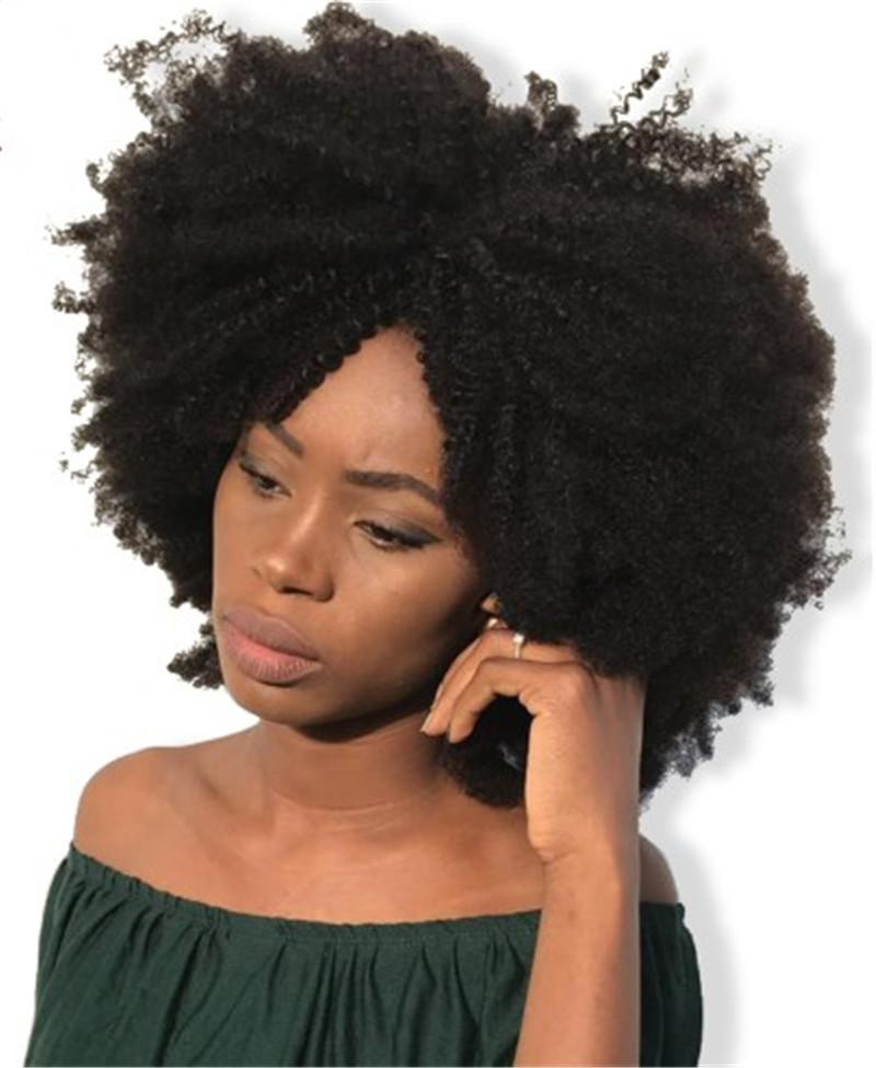 Kinky Curly Lace Front Human Hair Wigs for Black Women Indian Pre Plucked Full Lace Wigs with Natural Hairline FDSHINE