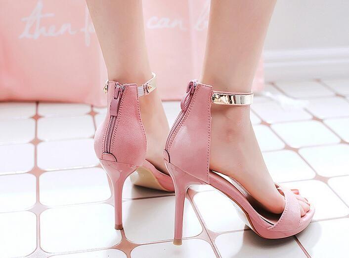 2017 summer stiletto heel sandals 3 colours waterproof Taiwan sexy nightclubs fashion high-heeled shoes