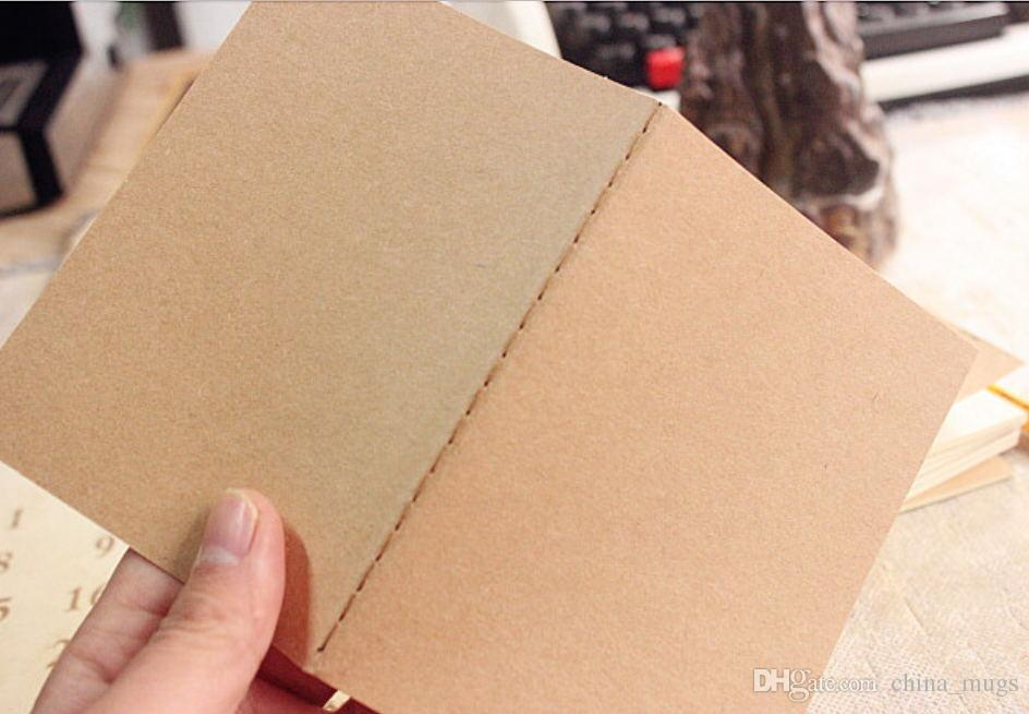Kraft Notebook Paper Hand Copy Cover Notepads Blank Stitch Notepad kraft Cover Notebooks Daily Paper Journal Stationery