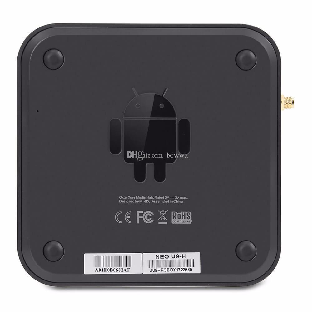 Original MINIX NEO U9-H Android 7.1 TV Box Amlogic S912 Octa Core 2G/16G 802.11ac 2.4/5GHz WiFi 4K HDR IPTV Smart TV Box