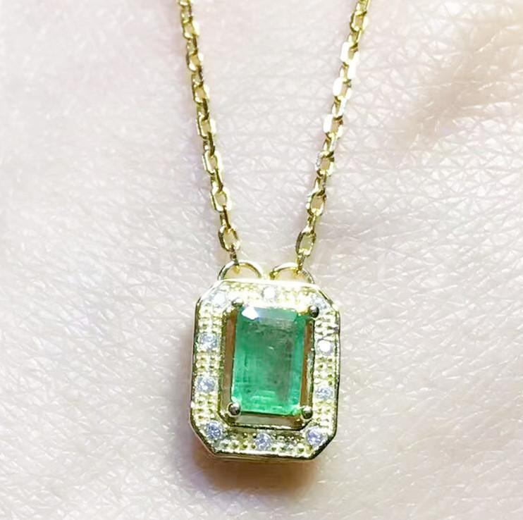 2018 natural emerald necklace with pendant 925 sterling silver 2018 natural emerald necklace with pendant 925 sterling silver natural real emerald for men or women 06ct gem from perfectjewelry 13066 dhgate aloadofball Choice Image