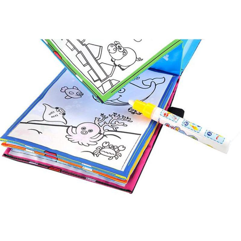 2018 Funny Magic Water Drawing Book Coloring Doodle Pen Animals Painting Toys Books For Kids Super Deal From Win2016