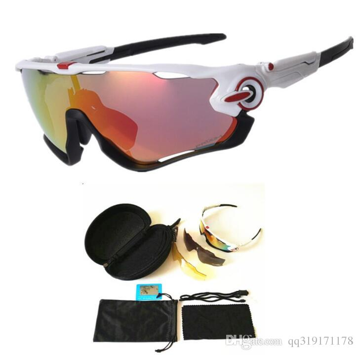 7b95de9226 3 LENS Goggles Bicycle Cycling Sports Glasses Polarized Sunglasses ...