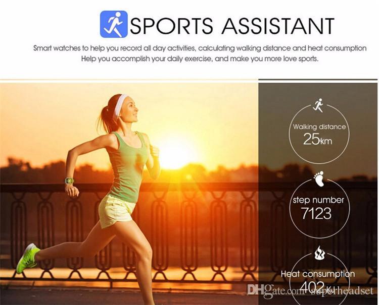 Reloj inteligente Bluetooth para Android IOS iPhone Samsung Apro Q18 Deportes Cámara mini SmartPhones GSM Tarjeta SIM Touch Screen