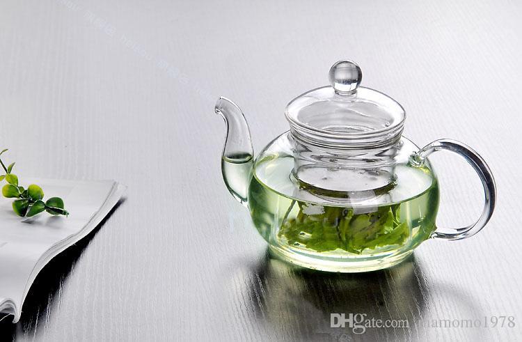 Novo Resistente Ao Calor Garrafa Xícara de Vidro Bule com Infusor Folha De Chá De Ervas De Café 600 ML Venda Quente J1010-1