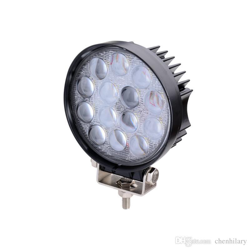 2x 4.5 '' 42W llevó la luz del trabajo la luz de la impulsión del LED 12V 24V 4x4 trazó la lámpara campo a través del coche SUV ATV del punto del coche del carro SUV