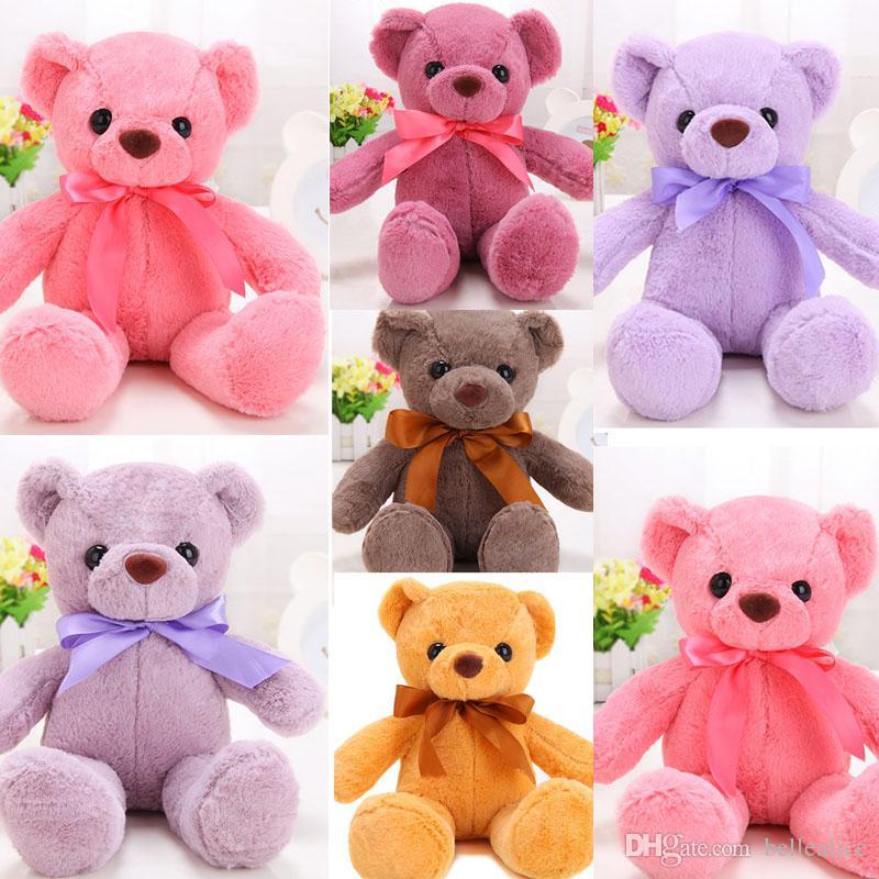 2018 35 cm 14 inches cute teddy bear stuffed skin white black bown