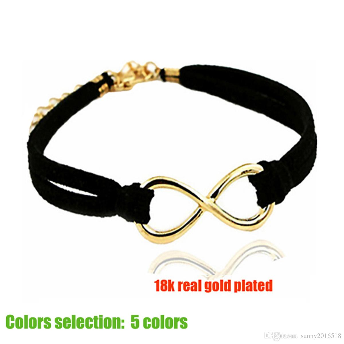 New gold infinity bracelets black leather chain infinity symbol new gold infinity bracelets black leather chain infinity symbol charm bracelet for women simple fashion bangles casual jewelry party gifts kids charm biocorpaavc