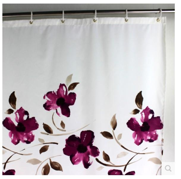 2018 Wholesale Ink Purple Orchid High Grade Bathroom Polyester Shower Curtain Waterproof Mildew Thickened From Stunning88