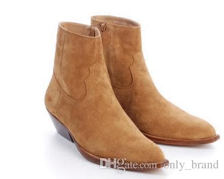 fd3c9957f6a Acheter Hommes Chaussures 2017 Printemps Et Automne Bottes Chelsea Western  Style Confortable Martin Bottes Cowboy Desert Bottes Mat Personnalisé Style  De ...