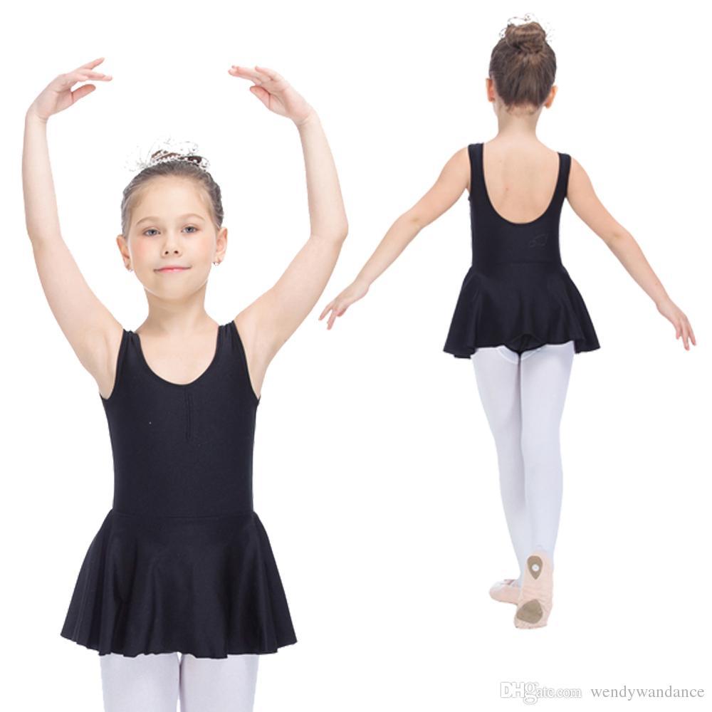 a30a20b109c0 2019 Children Ballet Dance Dress Nylon Lycra Tank Leotard Skirts For ...