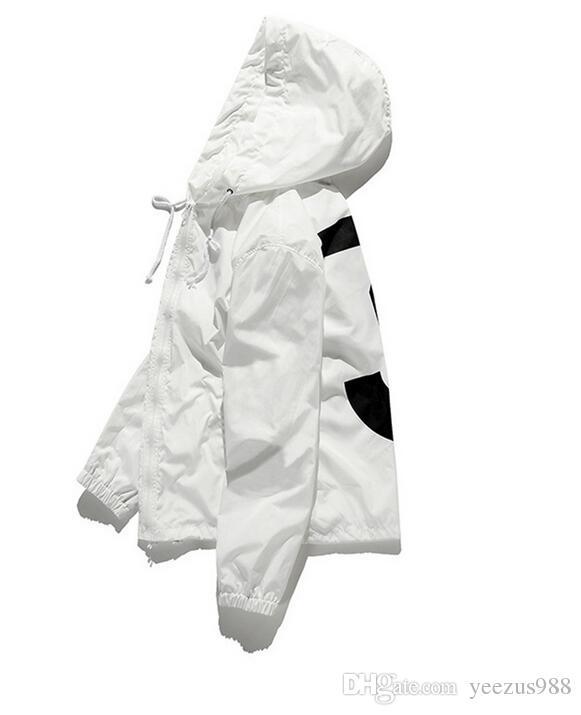 Yeni anorak güneş koruyucu ceket rüzgarlık streetwear hip hop kanye west rüzgar kırıcı jaqueta masculina marka siyah giyim