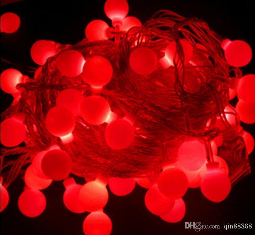 100 LED 10M String Light Christmas / Wedding / Party Tree Décoration s'allume en forme de boule ronde Lampe led étanche