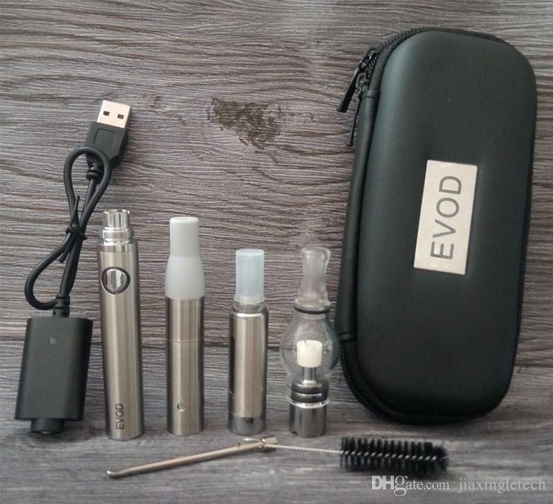 E Cigarette Evod Magic 3 in 1 Vaporizer Pen Starter Kits MT3 Atomizer Glass Globe Dry Herb Wax EVOD Battery 650mah 900mah 1100mah