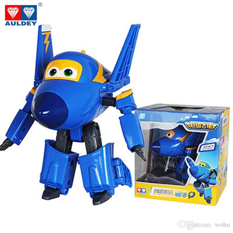Big !!! 15 cm ABS Super Wings Deformación Robot de avión Figuras de acción Super Wing Transformation juguetes para niños regalo