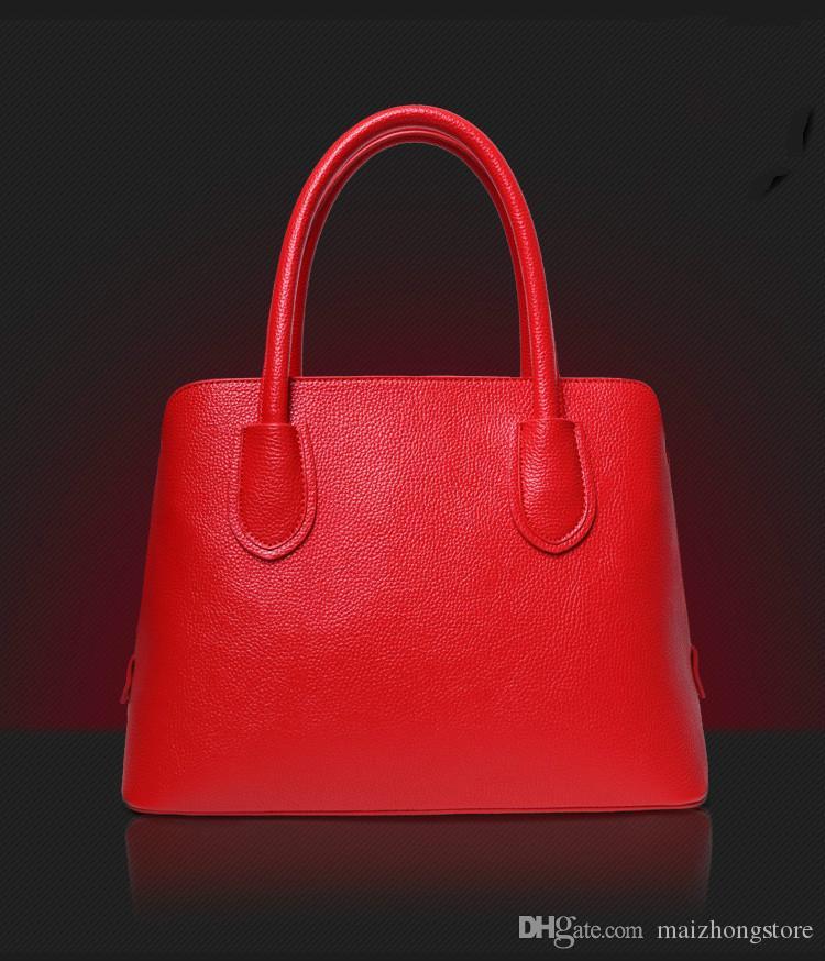 2017 new handbags women bags Europe simple fashion women shoulder Messenger bag female shell bag and women leather handbags