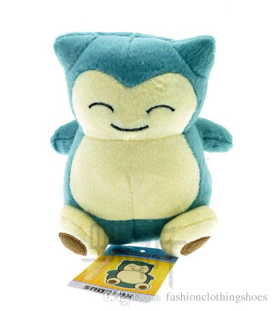 15cm (6inch)New Cute Pocket Monster Poke Snorlax Stuffed Plush Doll Cartoon Animal Figure Toys Gifts