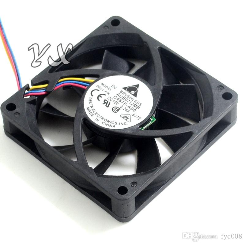 Envío gratis Original AUB0712MB-ROO 7015 12 V 0.24A 7 cm 4 hilos PWM CPU cooler para delta
