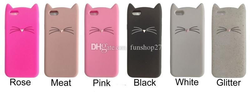 For iPhone 7 7Plus 3D Cute Cat Cute Silicone Soft Cover for Apple iPhone 6 6sPlus 5 5s SE New BAVS038