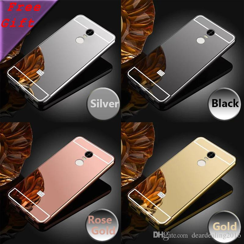 separation shoes 895ab 70e68 For Xiaomi Redmi note 4 case Plating Aluminum Frame Mirror Acrylic Back  Cover Cases for Xiaomi Redmi Note 4 Note4 Pro Prime