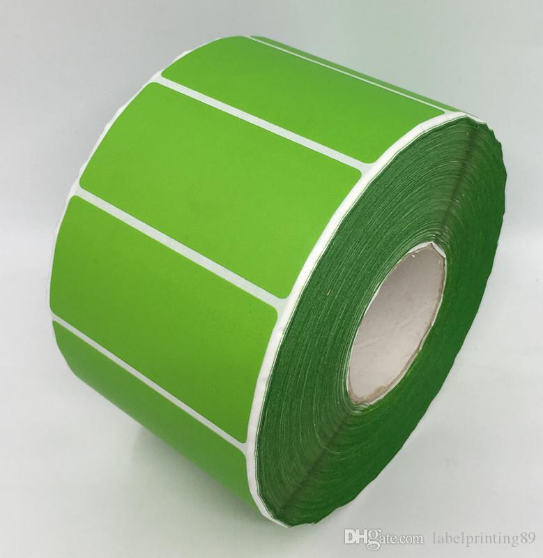 60*30MM /roll direct print blank paper sticker color package barcode sticker