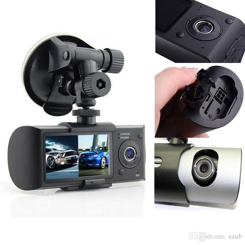 """Dual Camera Car DVR R300 with GPS and 3D G-Sensor 2.7"""" TFT LCD X3000 Cam Video Camcorder Cycle Recording Digital Zoom"""