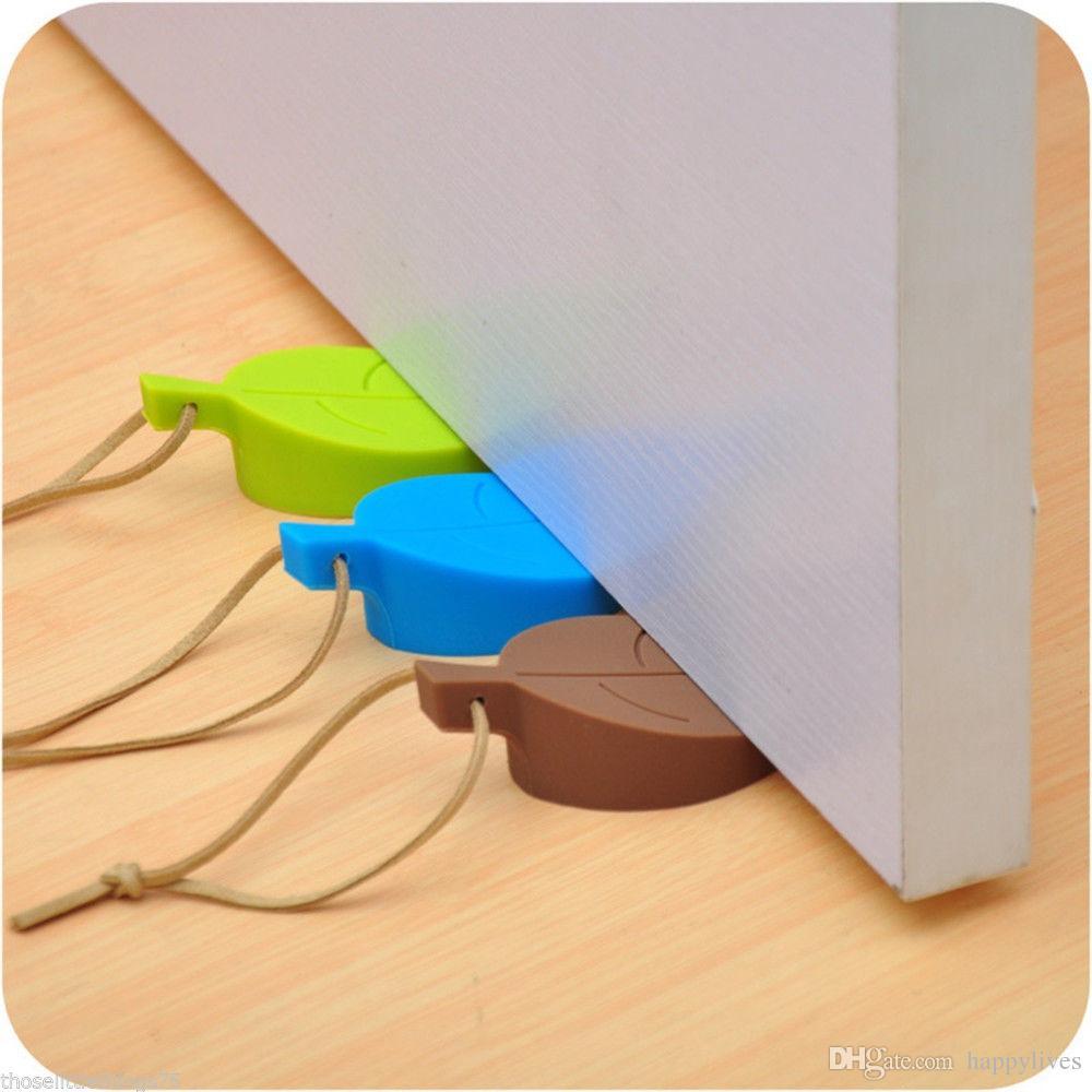 ورقة الباب توقف الأوتاد سدادة كتلة توقف إسفين يترك الإبداعية سيليكون قرصة الباب توقف الأطفال بطاقة خروج اليد ثلاثية الأبعاد
