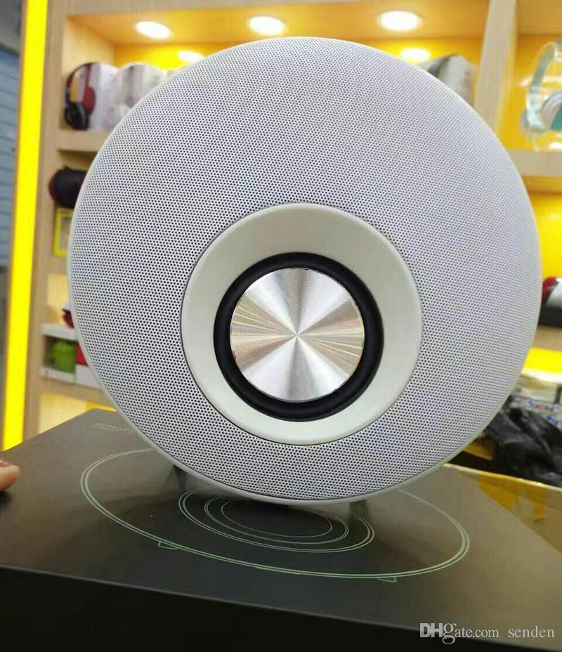 q5 UFO Magic plate Disc Q5 Round Shape Mega Bass Bluetooth Speaker with Hands-free Mic Support TF Card play HIFI frisbee diaphragm Subwoofer