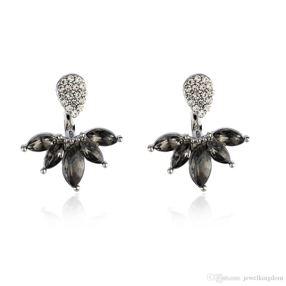 crystal cluster black stud earrings jon richard earring zoom jewellery from