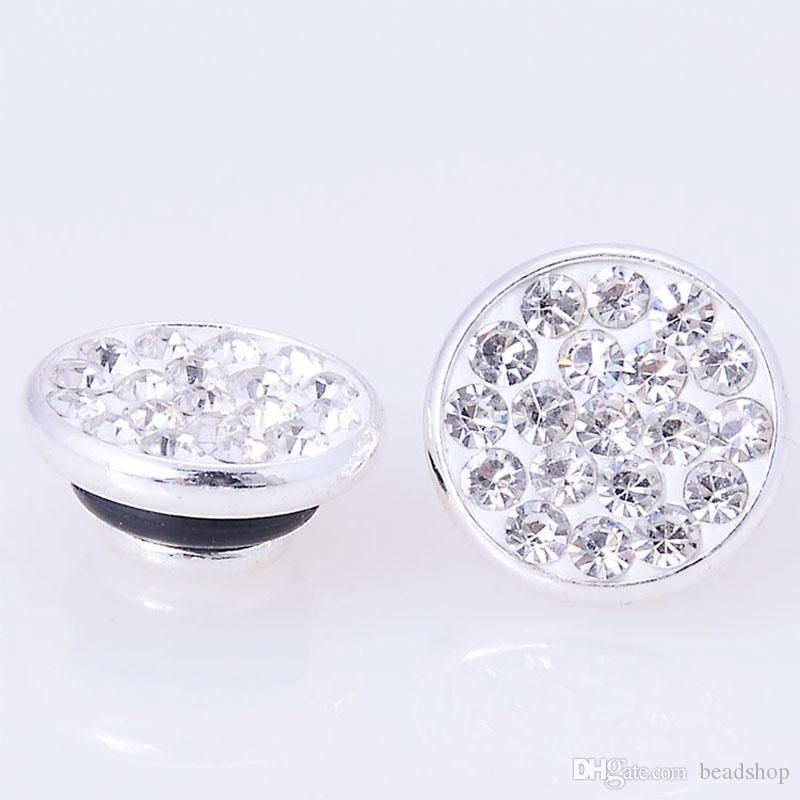 925銀メッキFIMO粘土Micro Pave CZ Pave Crystal Jewellpops DIYチャームKameleon Jewelry Mecking
