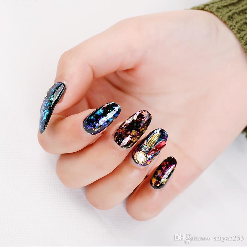 / set Poudre de flocons transparente Chameleon Nail Art Poudre de miroir scintillant New Colorful Pigment Pigment Manicure Set