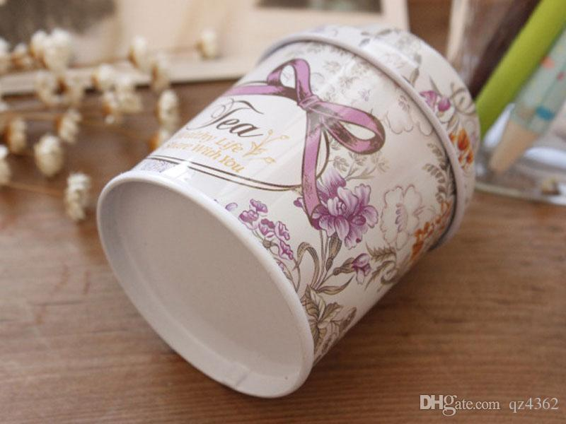 2017 new Vintage style flower series tea box, Cut tin box,storage case,Candy boxes,organizer, Iron case,storage container