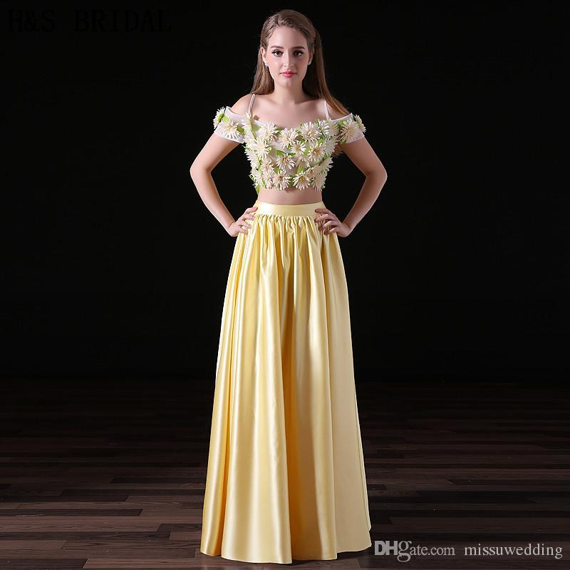 Sunflowers Prom Dresses 2017 Evening Party Dresses Fashion Charming ...
