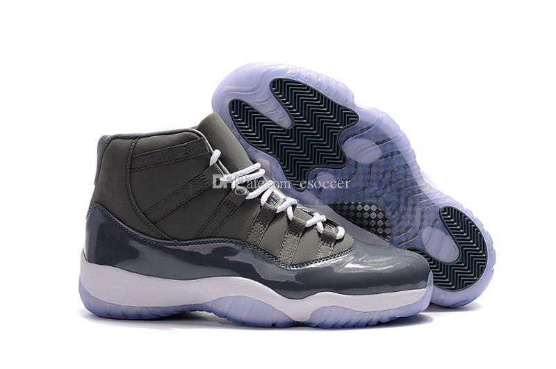 17db72e8738724 2019 Cool Grey 11 Mens Basketball Sneakers 2017 New Arrival High Tops Men  Basketball Shoes Size US7 13 From Esoccer