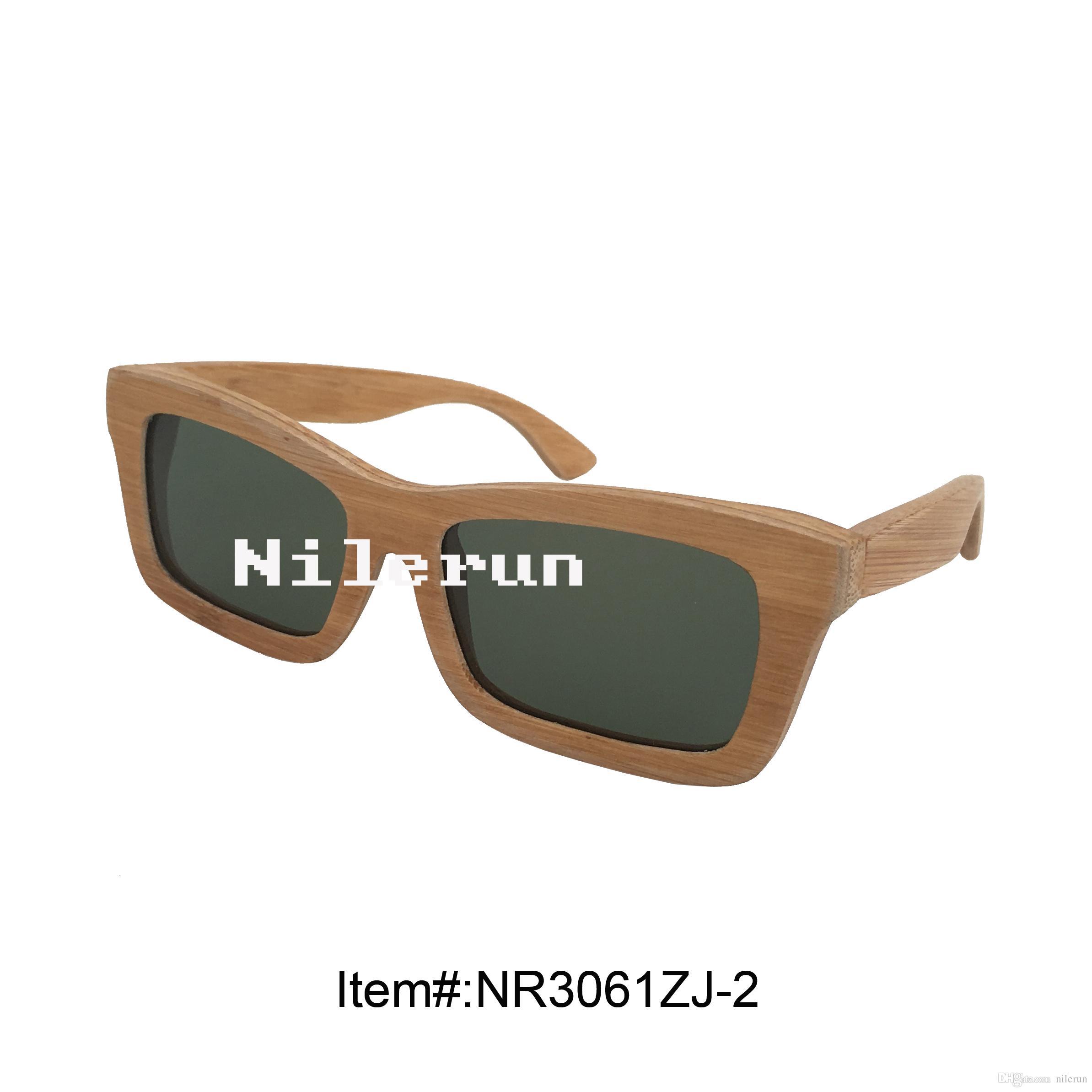 6a3f7b8550 Compre Clásico Cuadrado Presionado Gafas De Sol Bordo De Bambú A $13.07 Del  Nilerun   Dhgate.Com