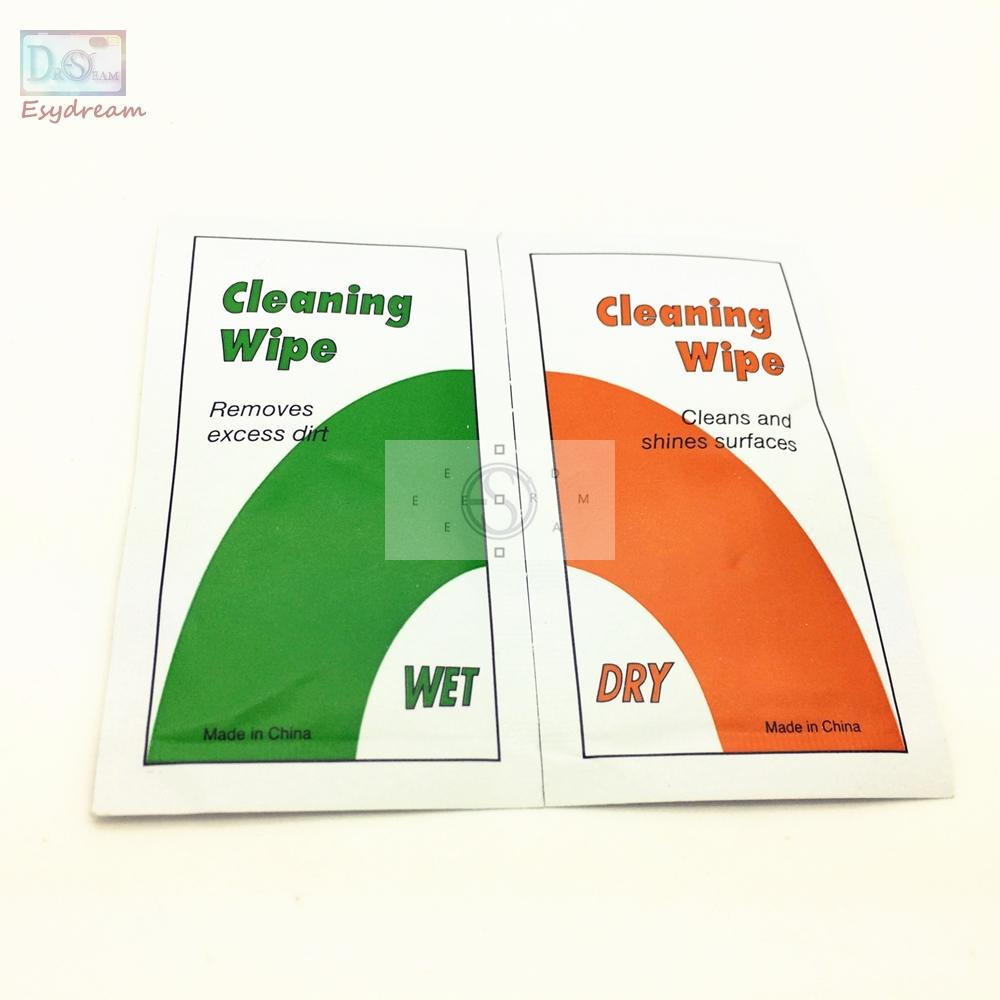 Wholesale- Camera Lens LCD Screen Dust Removal Wet Dry Cleaning Cloth Wipes Papers Tissues