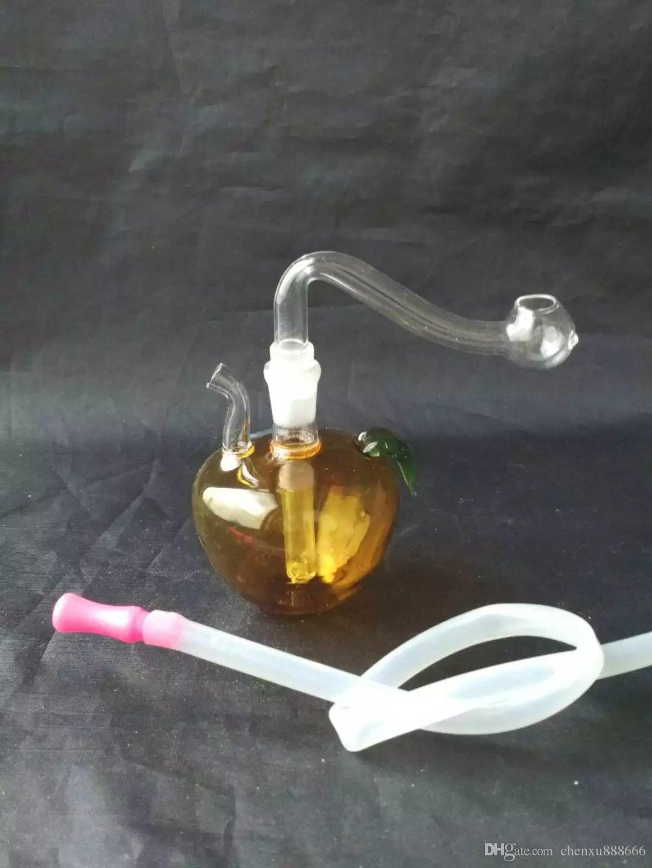 Многоцветные небольшие яблоко клобуки бонги аксессуары , стекло водопровод курительные трубы перколятор стекло бонги масляная горелка водопроводные трубы нефтяные вышки Smok