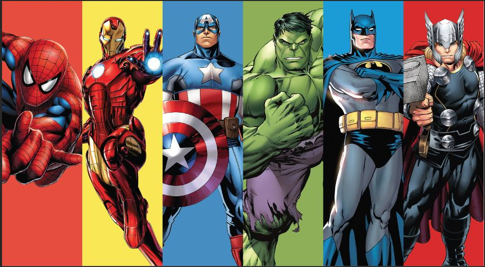 7x5FT Super Heroes Avengers Spiderman Superman Frame Custom Photo ...