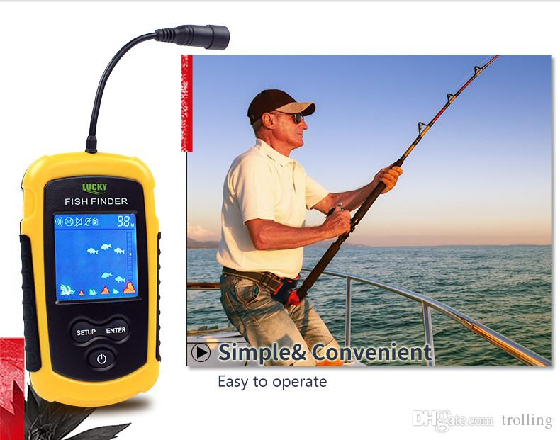 2018 100m Depth Portable Fish Fishing Finder Sonar Lcd Echo Sounder