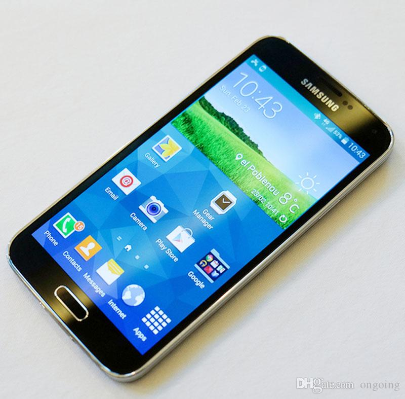 Unlocked Samsung Galaxy S5 i9600 LTE WCDMA 2GB RAM 16GB ROM G900F 16MP  Camera Quad Core 5 1 Inch Cell Phone in stock