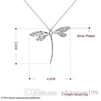 Partihandel - Retail Lägsta pris Julklapp 925 Silver Mode Smycken Gratis frakt Halsband BN076