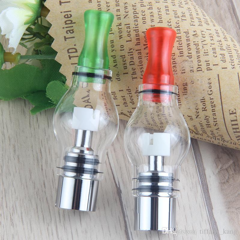 Glass globe atomizers Wax dry herb vaporizer vape pen 510 vapor herbal e cig with Replacement ceramic cotton coil Glass Globe DHL Free